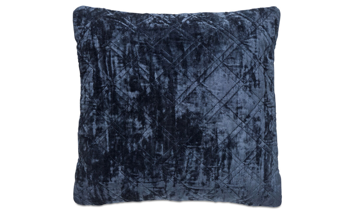 Patterned cushions - Cuscino Quilt - Blu - Tessuto