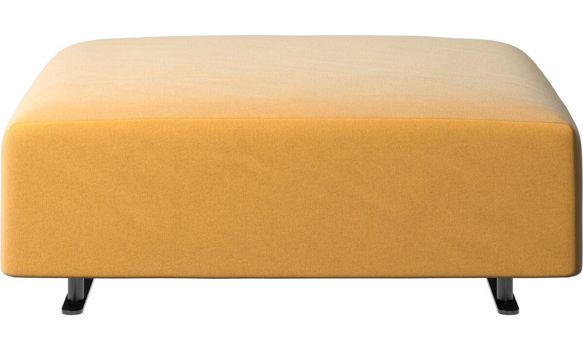 Sofa Hocker - Hampton Pouf - Gelb - Stoff