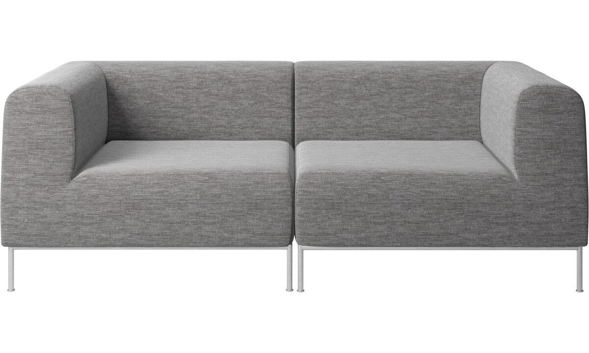 2 seater sofas - Miami divano - Grigio - Tessuto