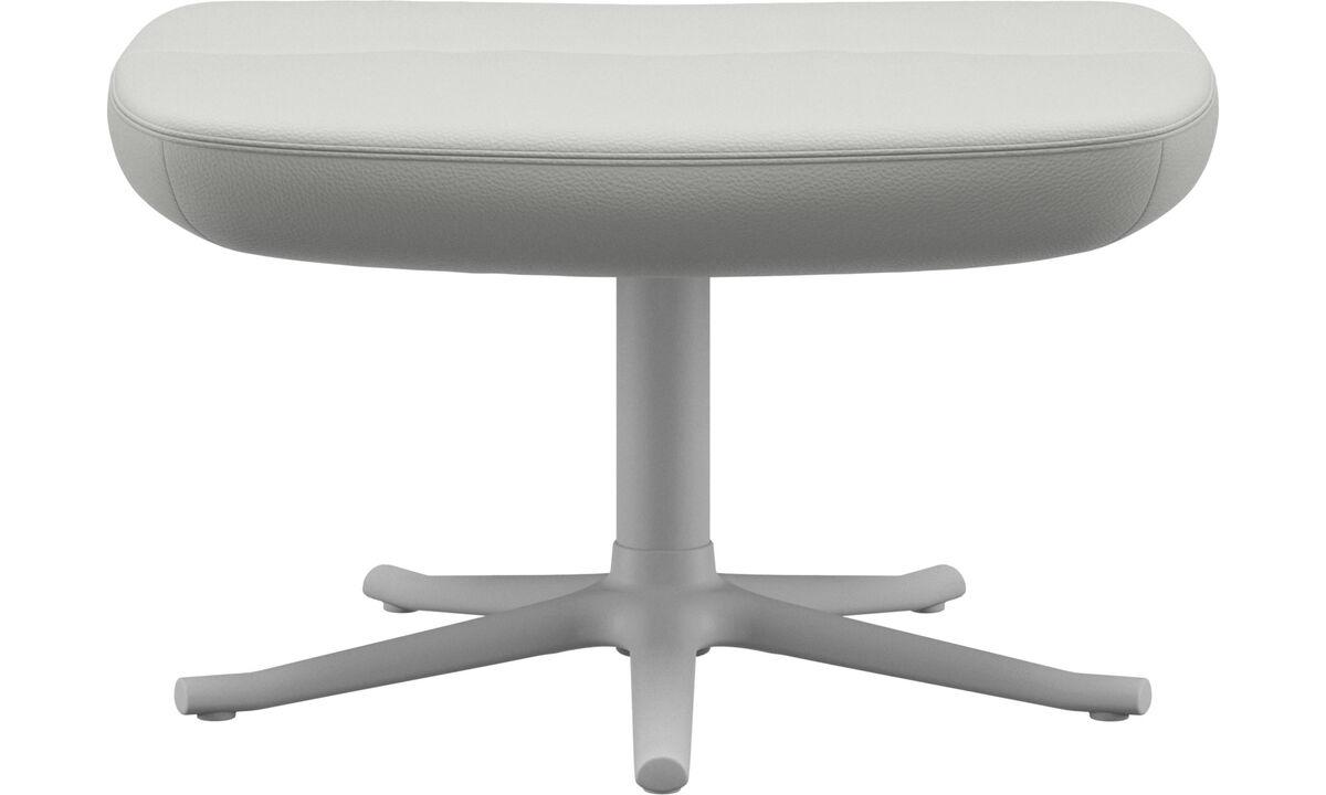 Footstools - Trento footstool - White - Leather