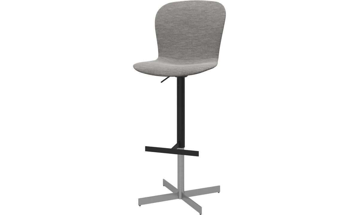 New designs - Adelaide barstool with gas cartridge - Grey - Fabric