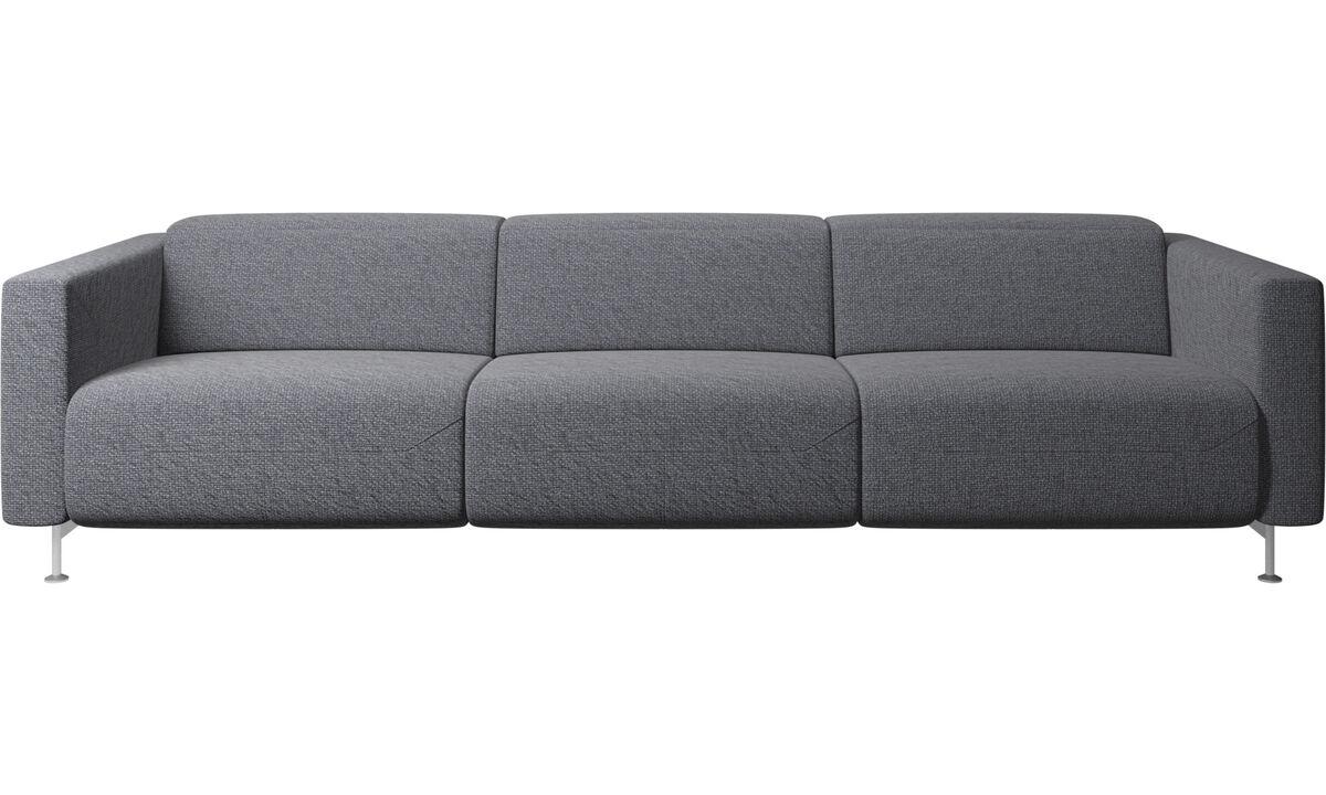Sofás de 3 lugares - sofa reclinável Parma - Azul - Tecido