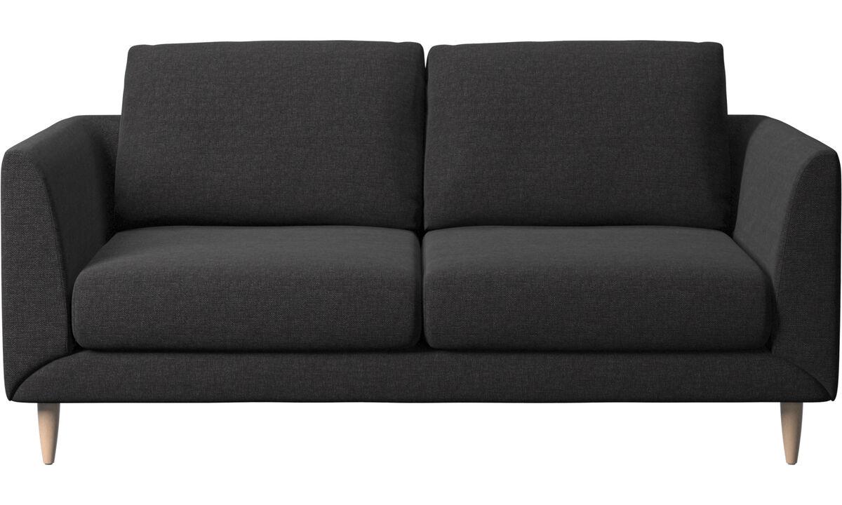 Kétszemélyes kanapék - Fargo kanapé - Fekete - Huzat