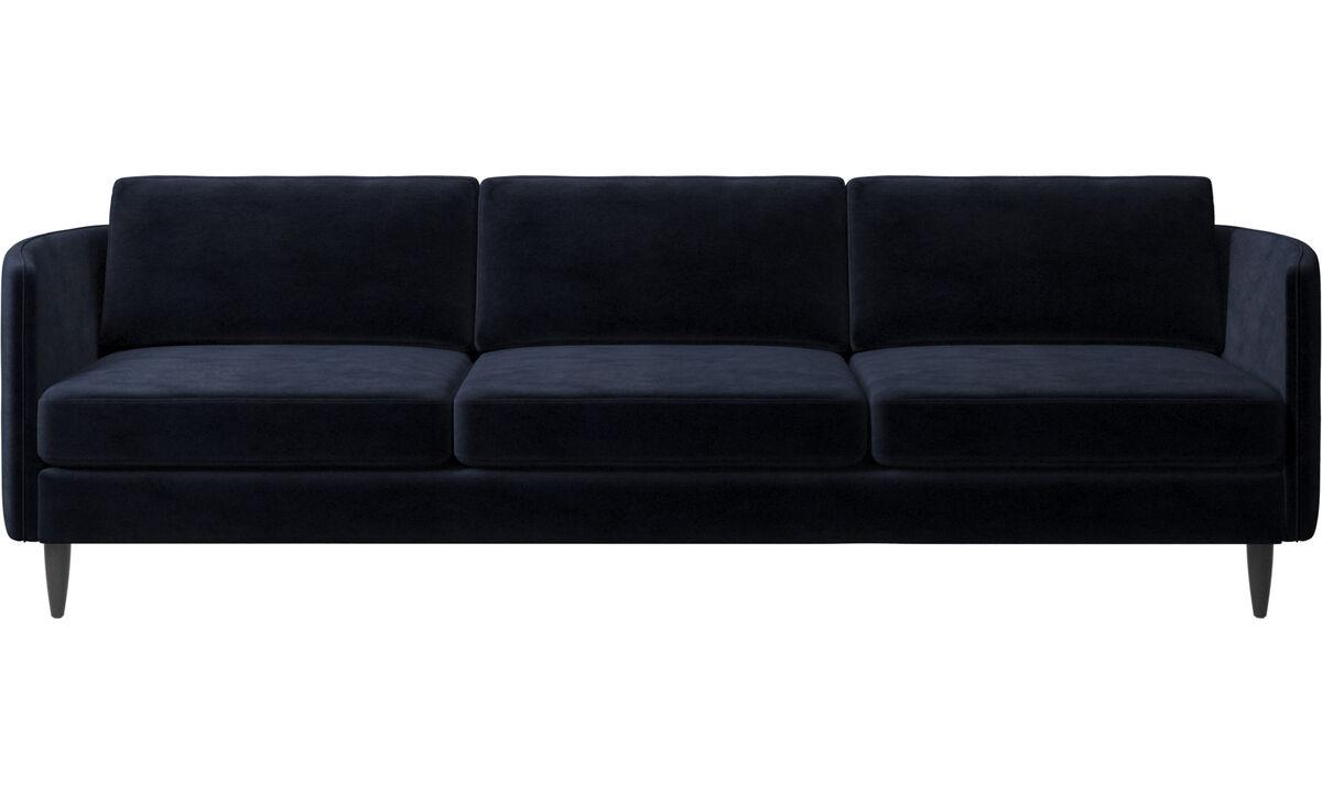 3 seater sofas - Osaka sofa, regular seat - Blue - Fabric
