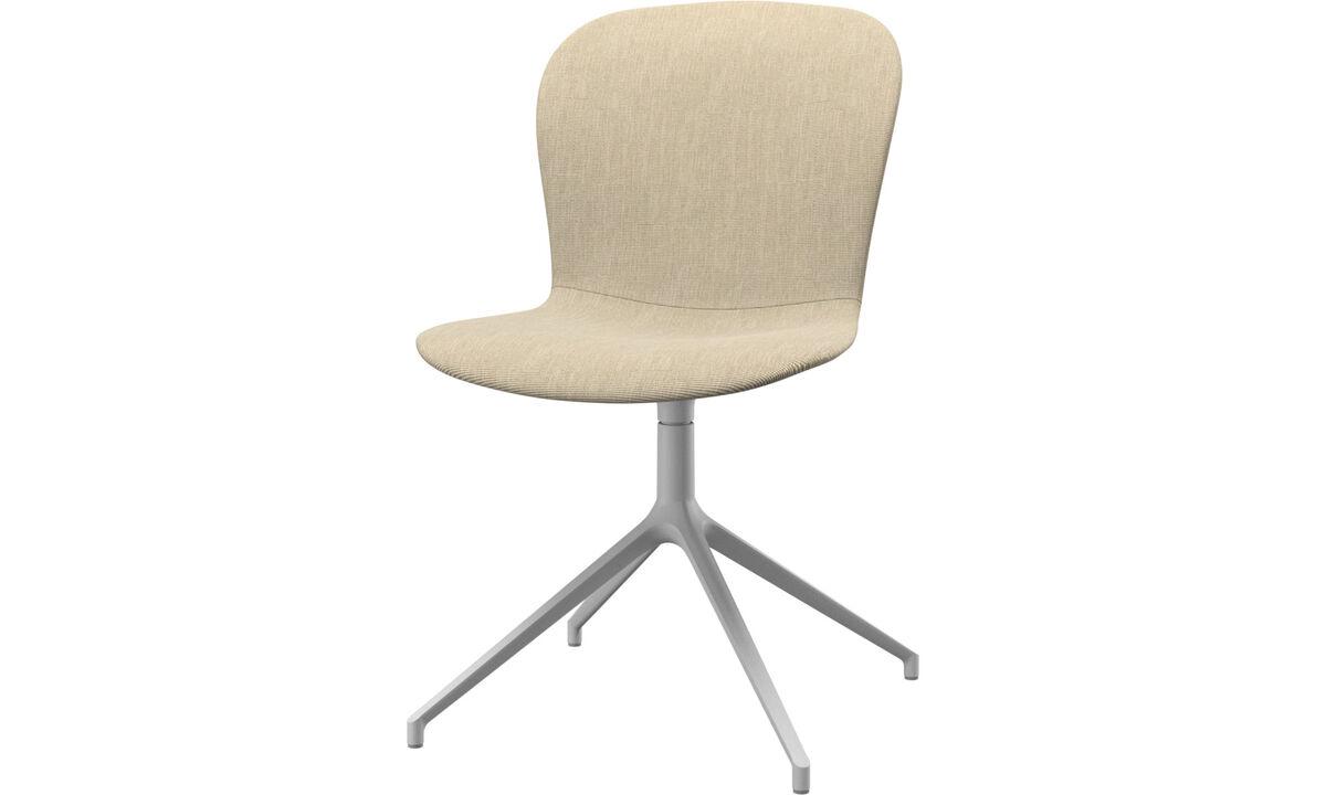 Обеденные стулья - Cтул Adelaide с функцией вращения - Коричневого цвета - Tкань