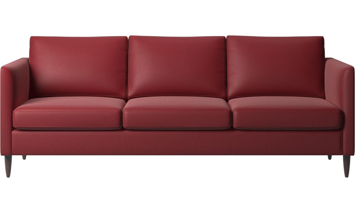 3 seater sofas - Indivi divano - Rosso - Pelle