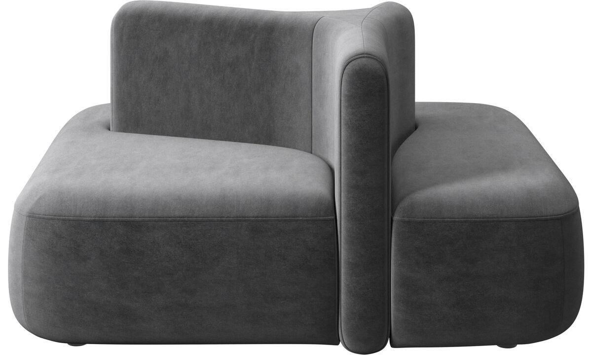 New designs - Ottawa square low back - Gray - Fabric