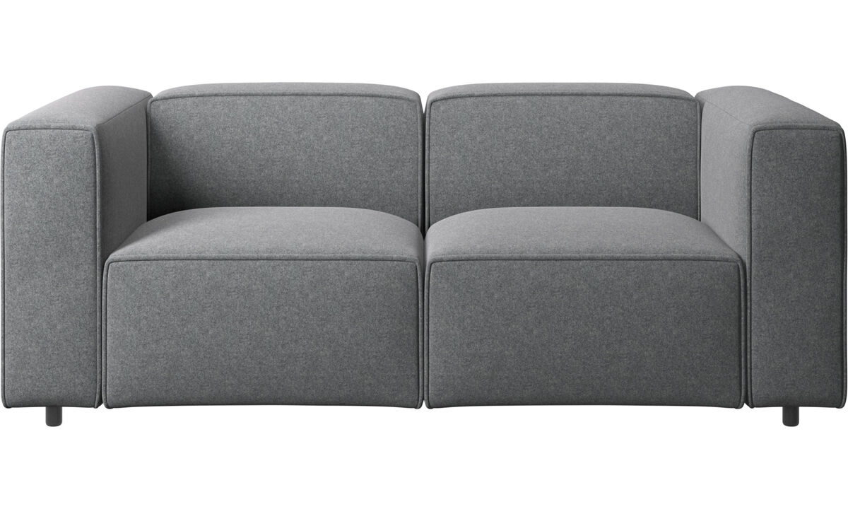 2 seater sofas - Carmo sofa - Grey - Fabric