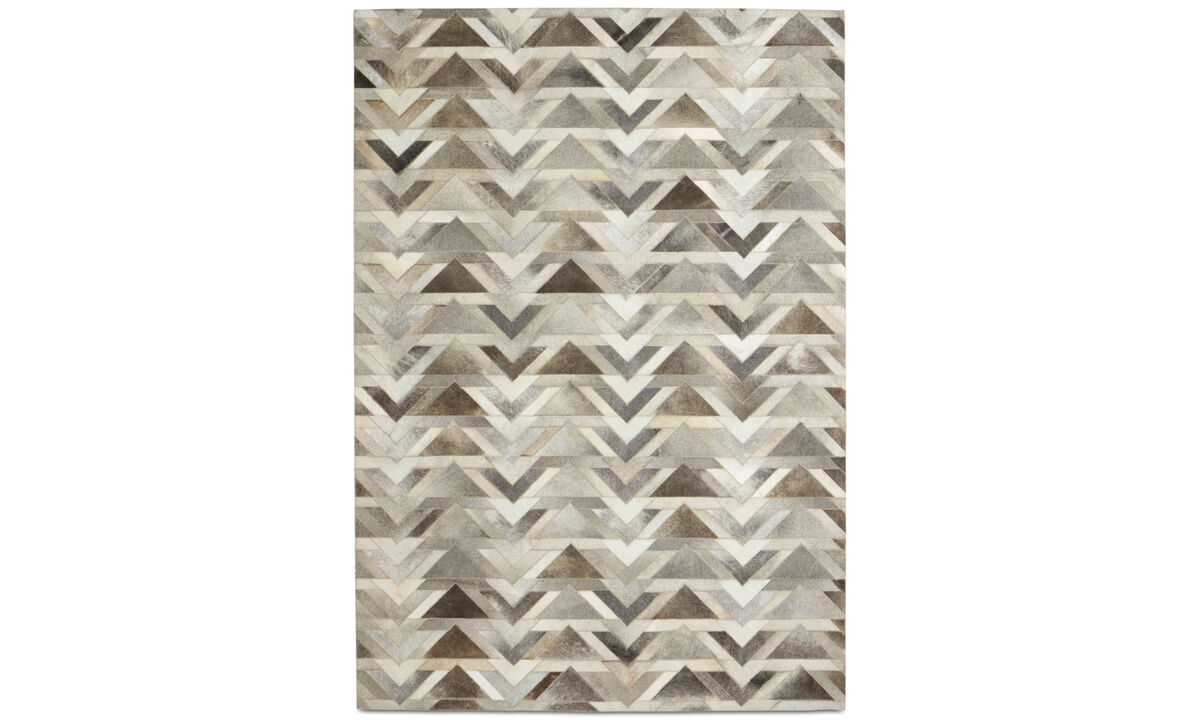 Leather rugs - Arrow rug - rectangular - Grey - Leather
