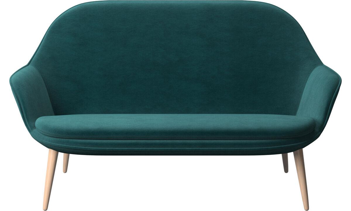Sofás de 2 plazas - sofá Adelaide - En azul - Tela