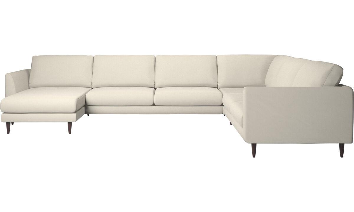 New designs - Fargo corner sofa with resting unit - White - Fabric