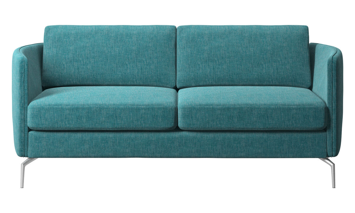 New designs - Osaka sofa, regular seat - Blue - Fabric