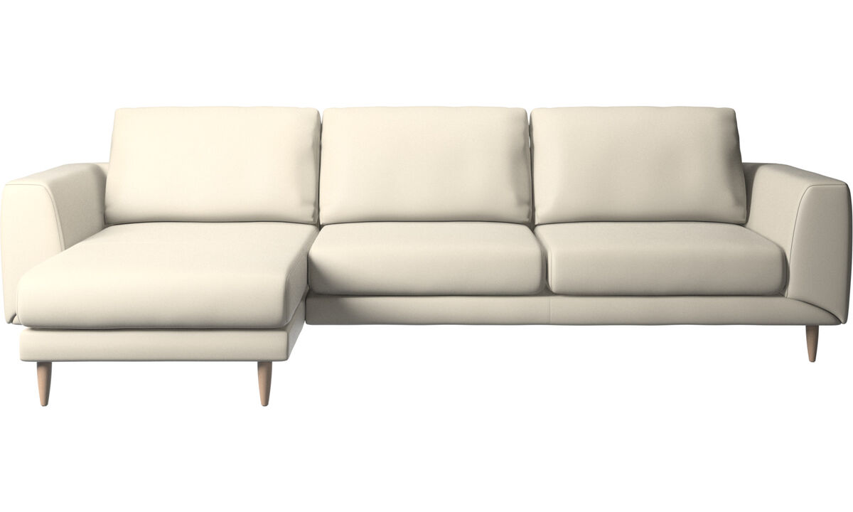 Chaise lounge sofas - Fargo sofa with resting unit - White - Leather