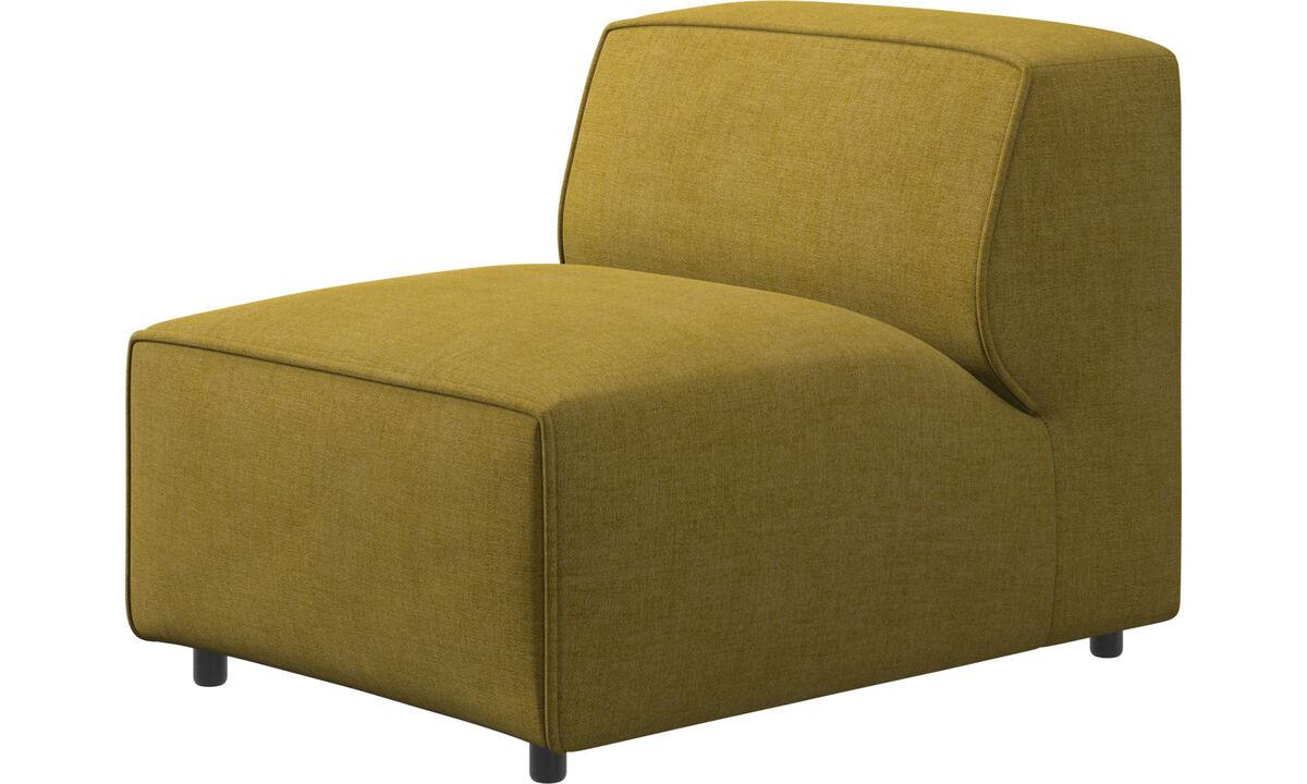 Sofás modulares - silla/módulo básico Carmo - En amarillo - Tela