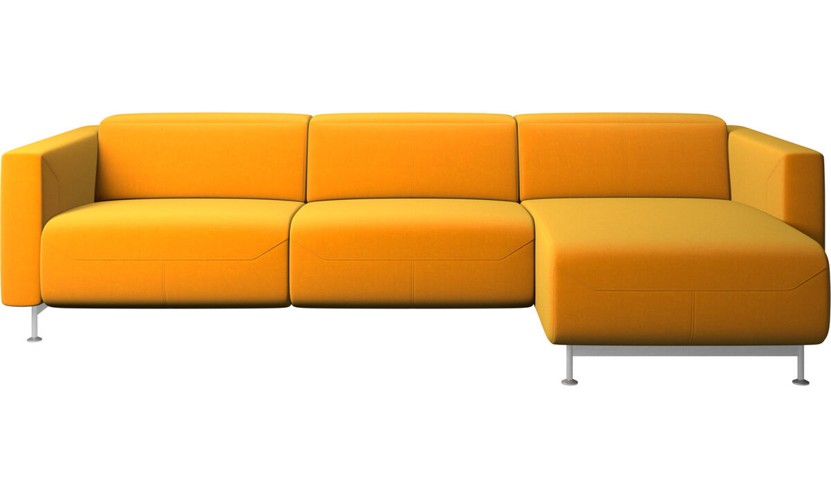 Recliner sofas - Parma reclining sofa with chaise lounge - Orange - Fabric