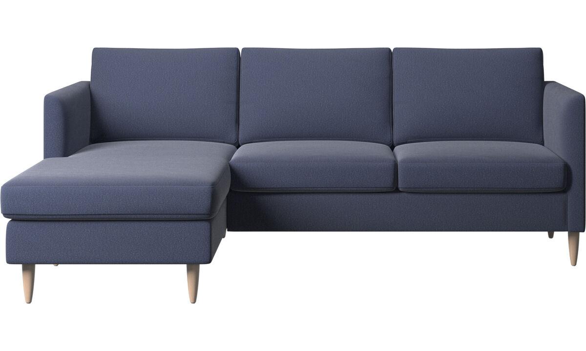 Chaise longue banken - Indivi zitbank met ligelement - Blauw - Stof