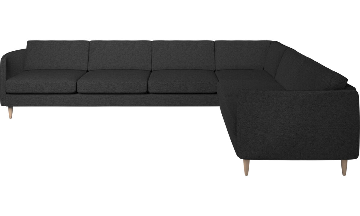 New designs - Osaka corner sofa, regular seat - Grey - Fabric