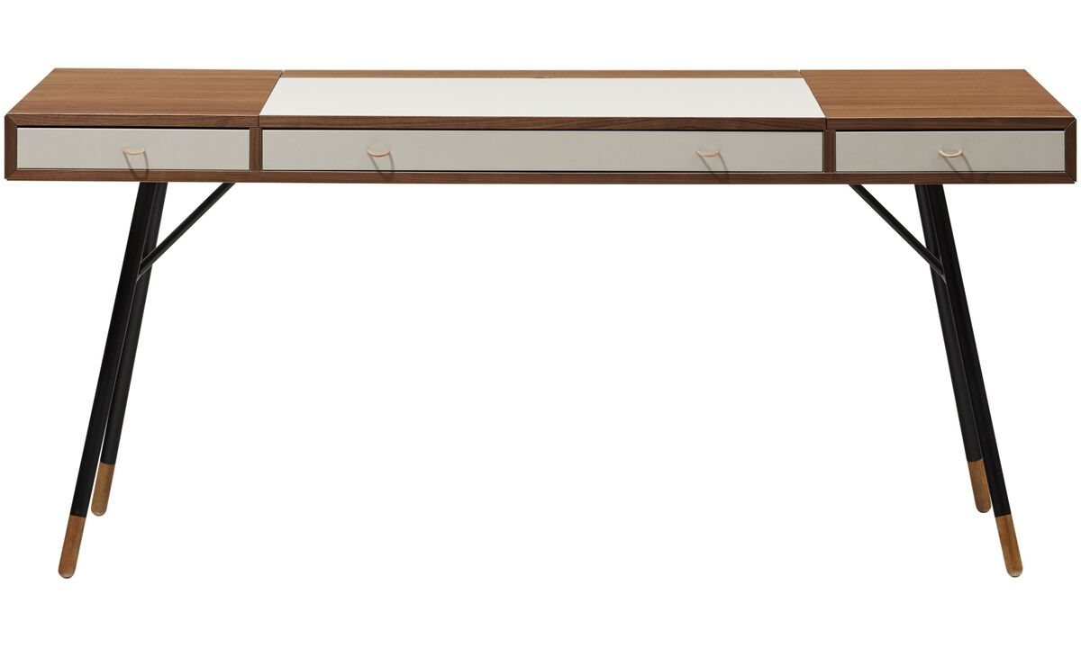 Desks - Cupertino desk - square - Brown - Walnut