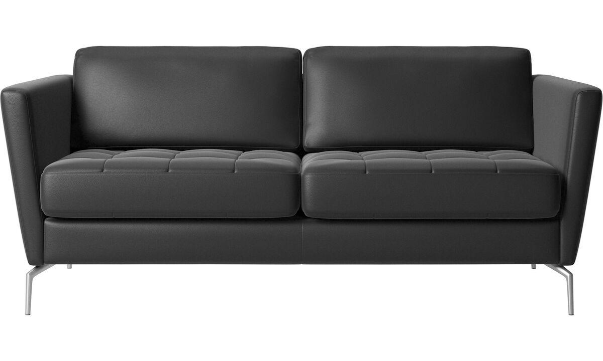 Двухместные диваны - Диван Osaka - Черного цвета - Кожа