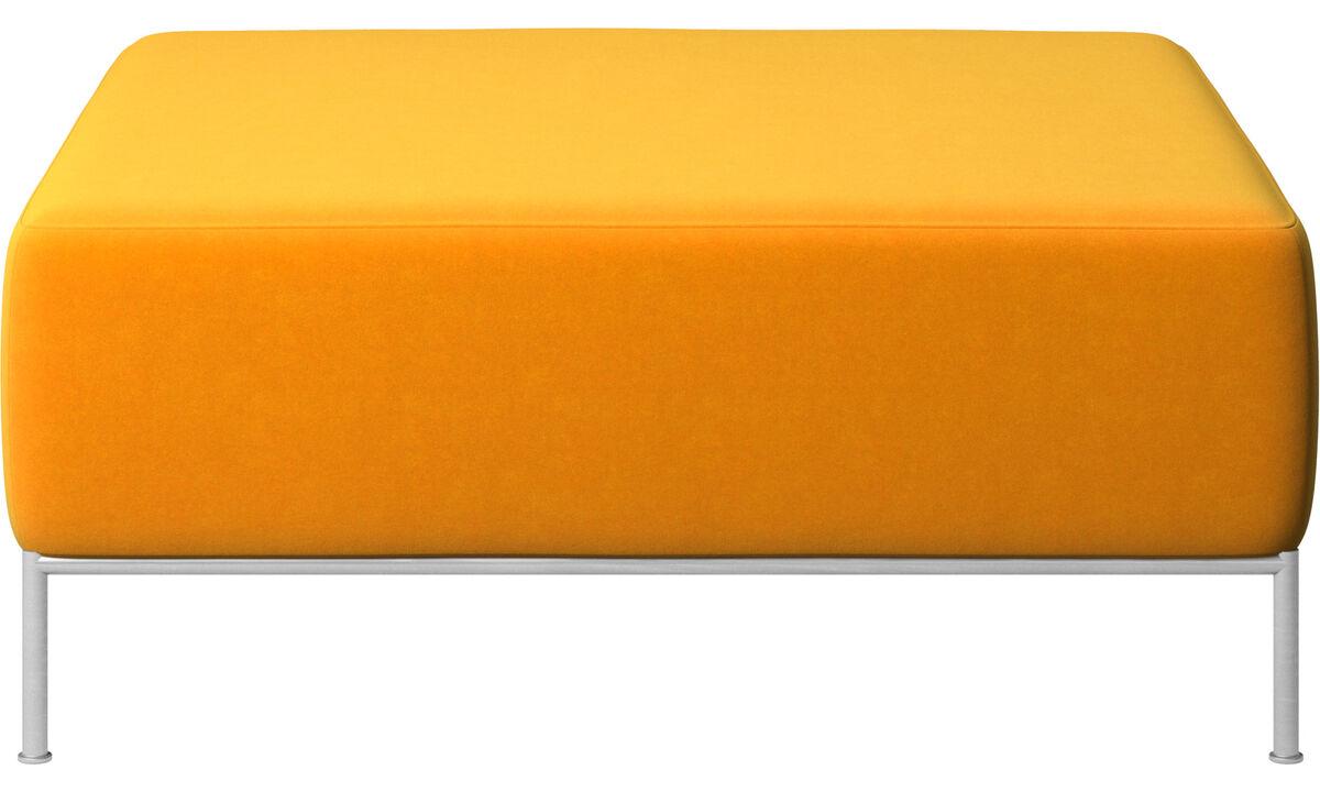 Footstools - Miami footstool - Orange - Fabric