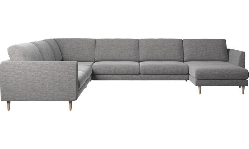 Sofás con chaise longue sofá rinconera Fargo con m³dulo chaise