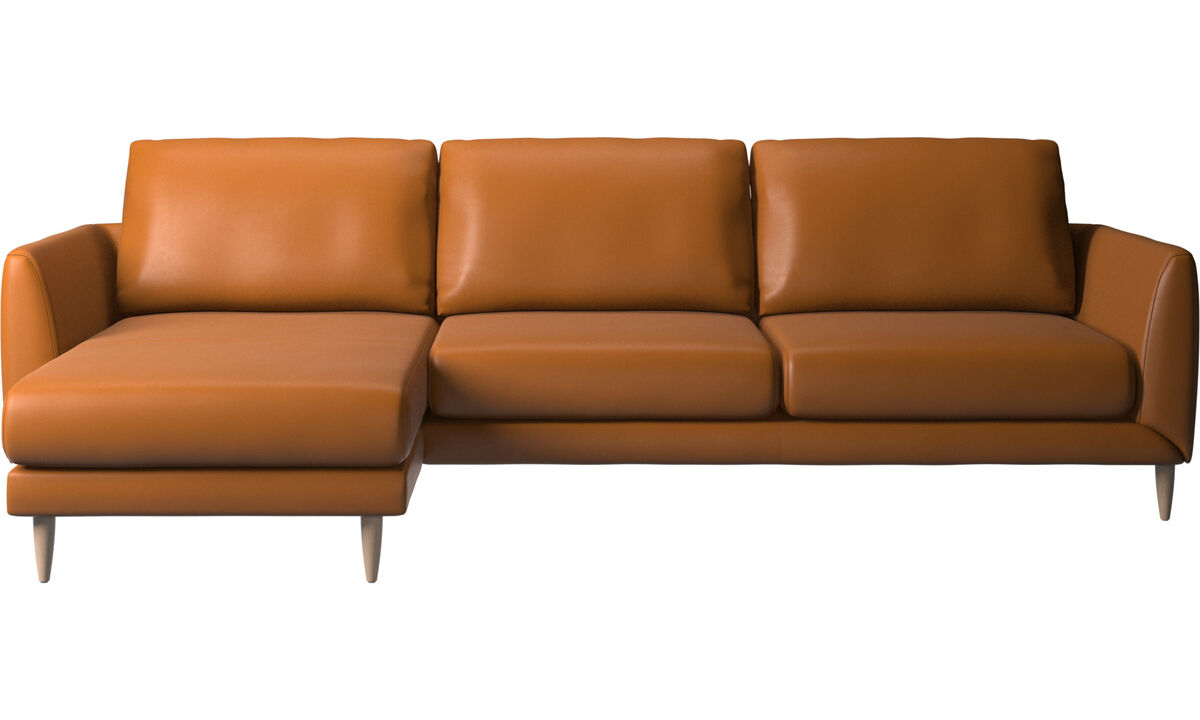 Chaise longue sofas - Fargo sofa with resting unit - Brown - Leather