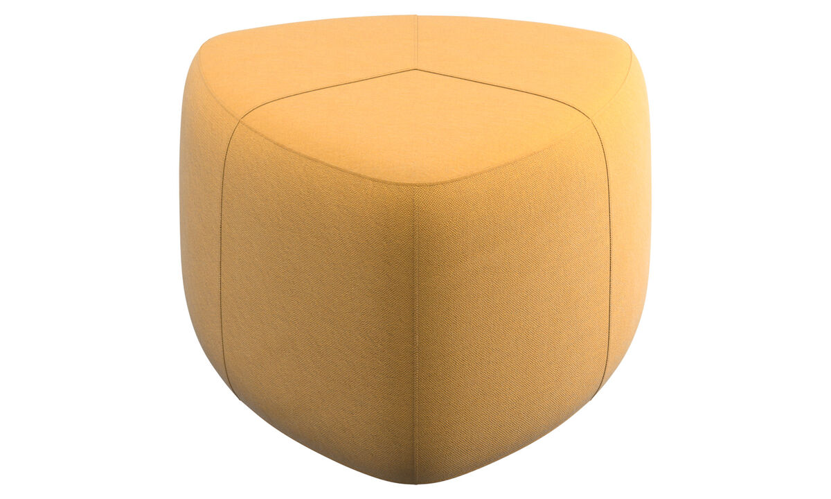 Footstools - Bermuda footstool - Yellow - Fabric
