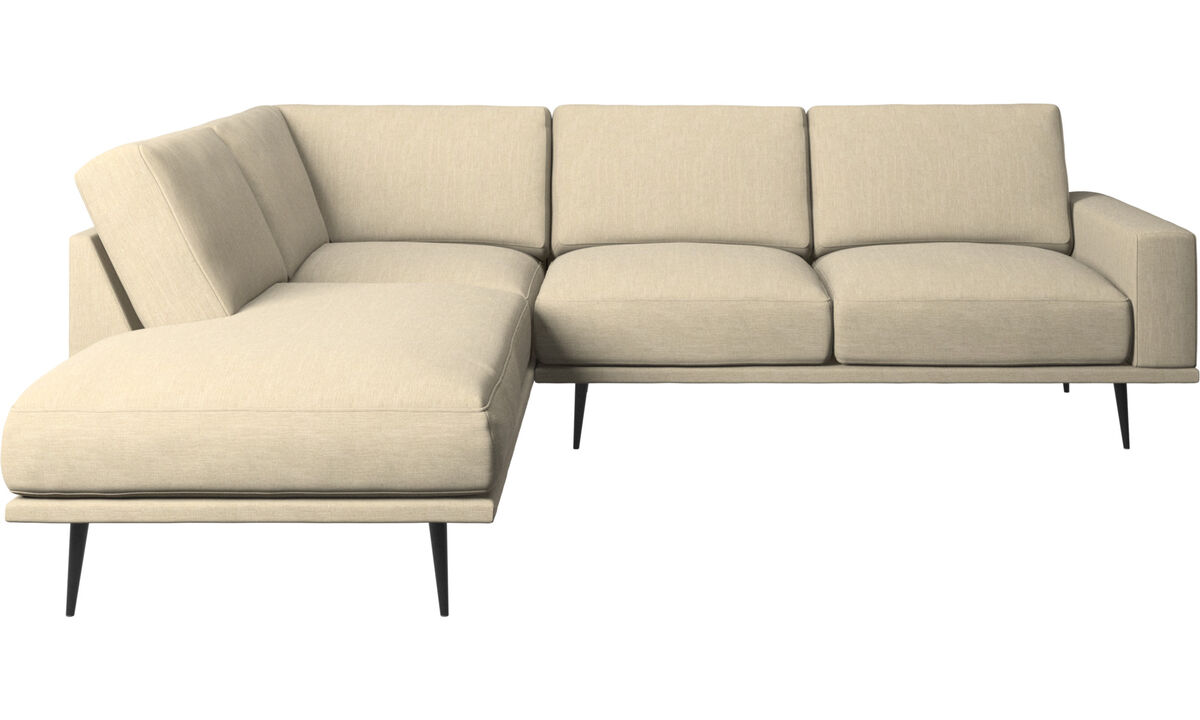 Lounge Suites - Carlton sofa with lounging units - Brown - Fabric