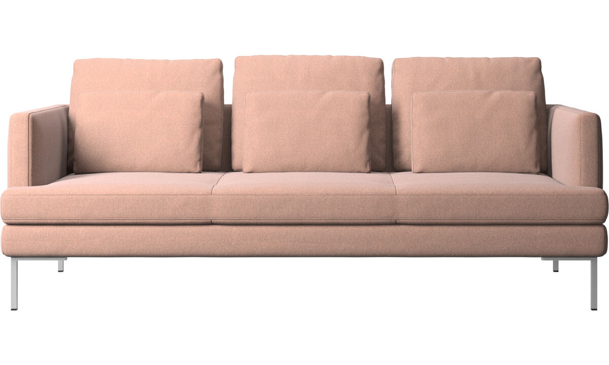 3 seater sofas - Istra 2 sofa - Red - Fabric