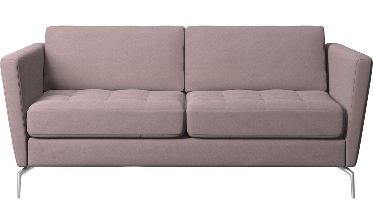 2 seater sofas - Osaka sofa, tufted seat - Purple - Fabric