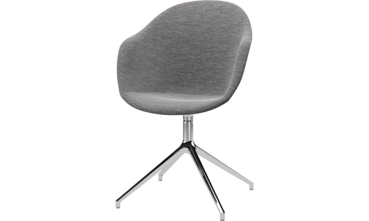 Home office chairs - Adelaide chair with swivel function - Grey - Fabric