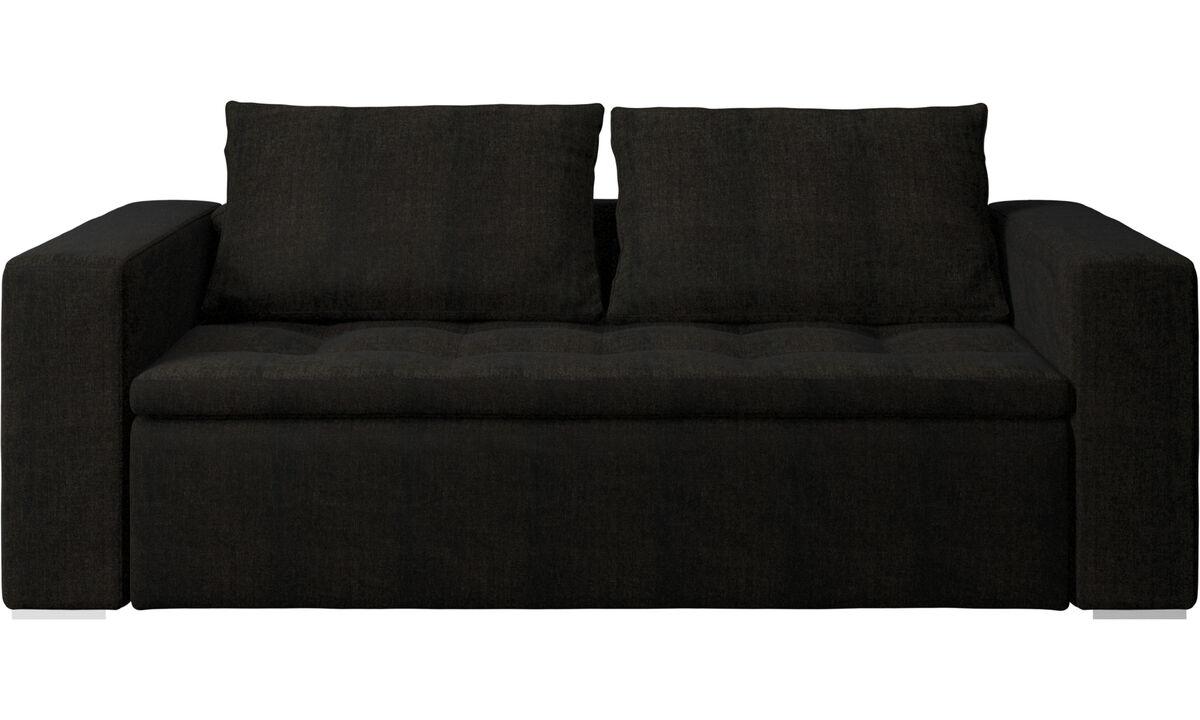 Sofás de 2 plazas y media - Sofá Mezzo - En marrón - Tela