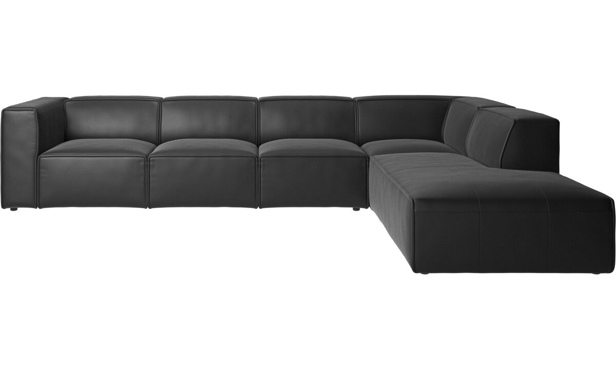 Modular sofas - Carmo corner sofa - Black - Leather