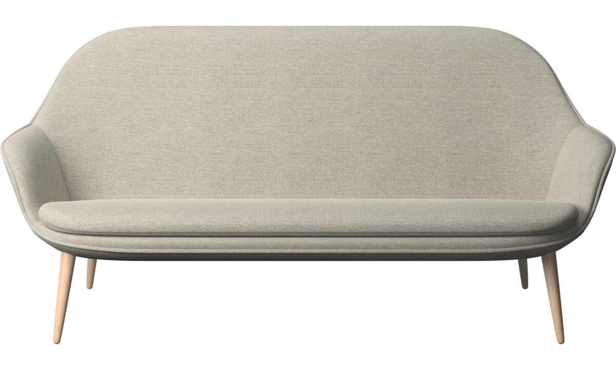 Sofás de 2 plazas y media - sofá Adelaide - En beige - Tela