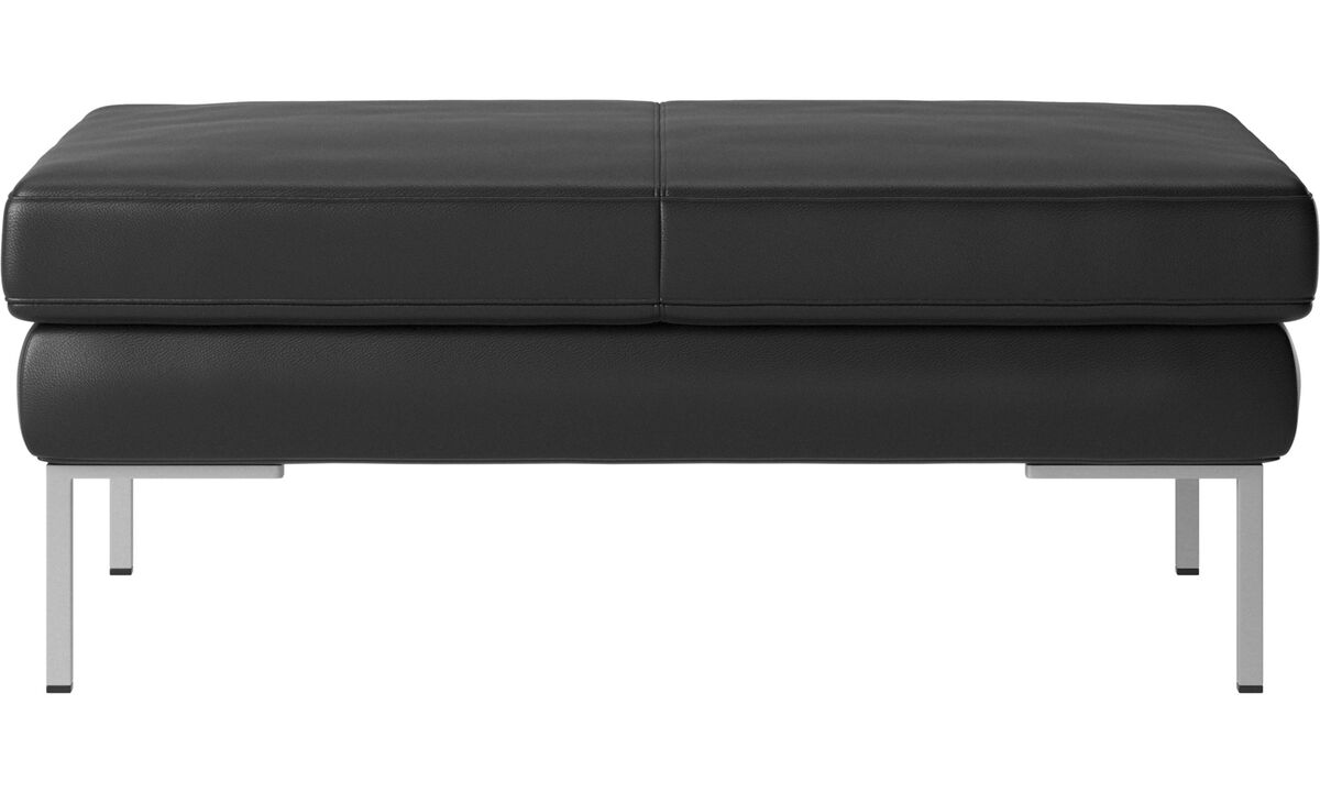 Footstools - Istra 2 footstool - Black - Leather