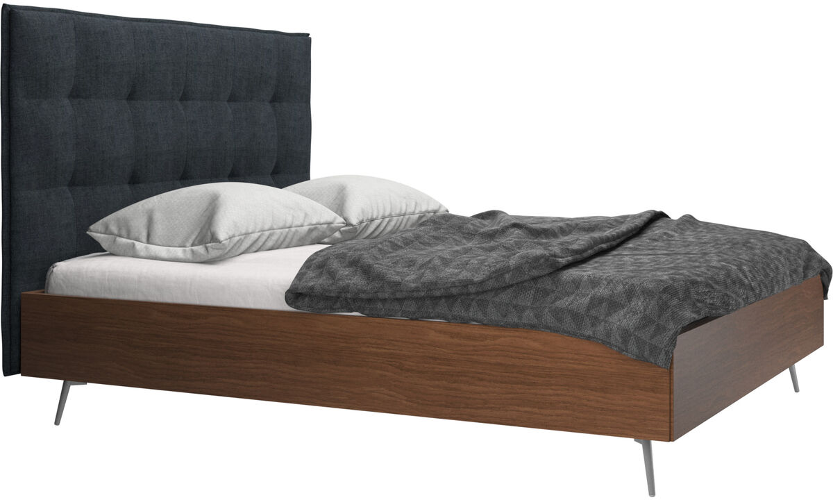 New beds - Lugano bed, excl. mattress - Blue - Fabric