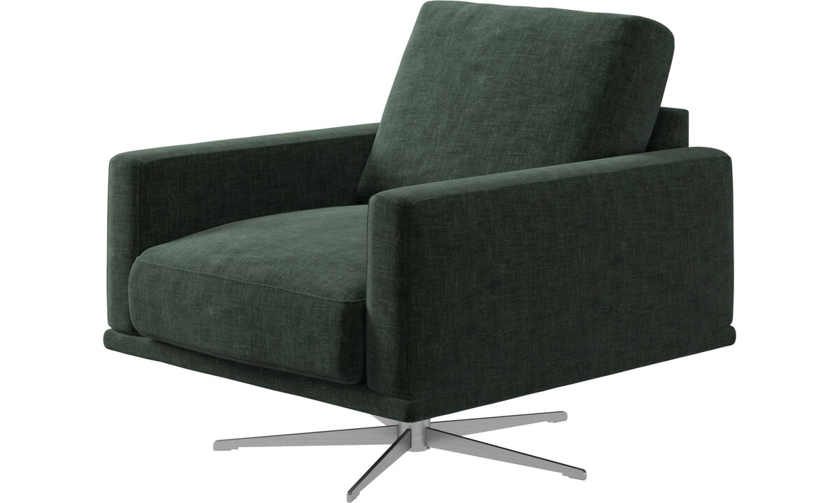 Armchairs - Carlton chair with swivel function - Green - Fabric