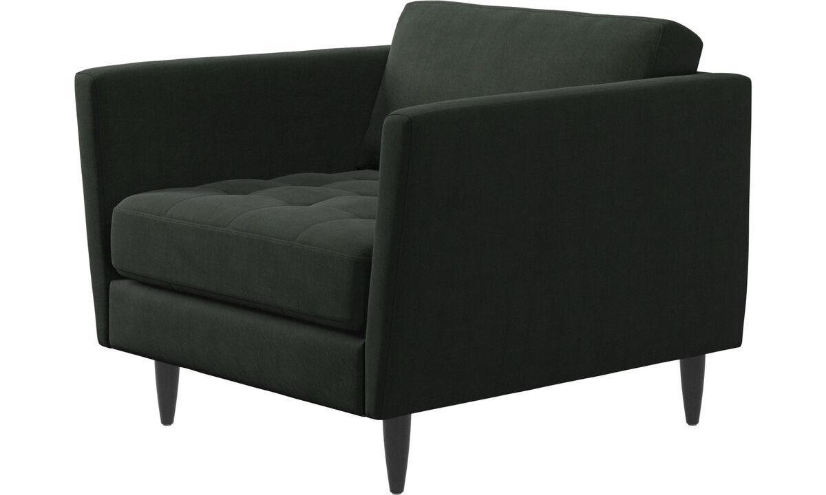 休闲椅 - Osaka椅, 簇绒坐垫 - 绿色 - 布艺