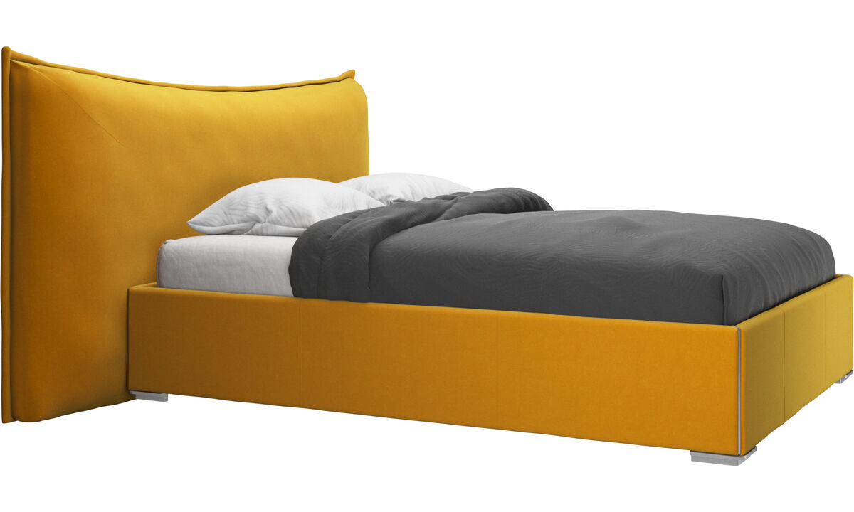 Beds - Gent storage bed with lift-up frame and slats, excl. mattress - Orange - Fabric