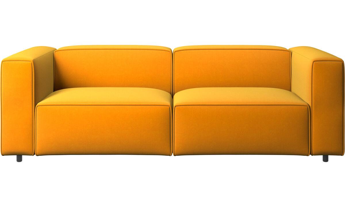 Sofás reclinables - Sofá Carmo con movimiento - Naranja - Tela