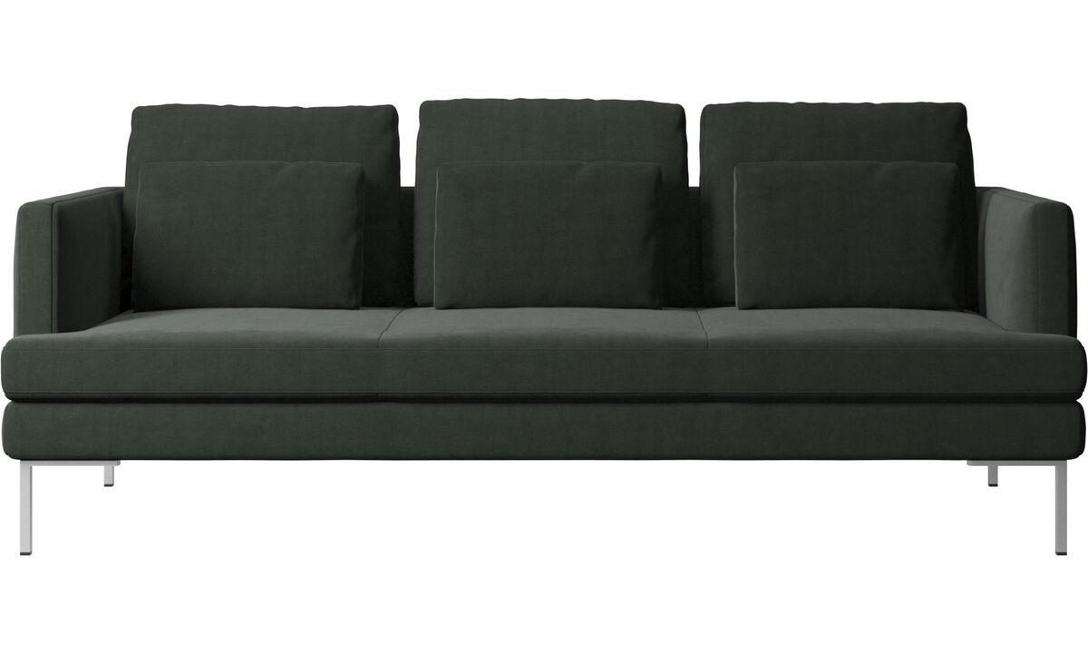 Sofás de 3 plazas - Sofá Istra 2 - En verde - Tela