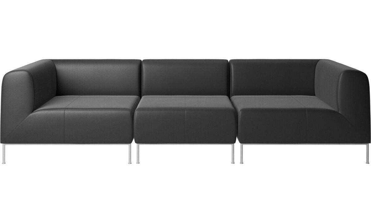 Modular sofas - Miami sofa - Black - Leather
