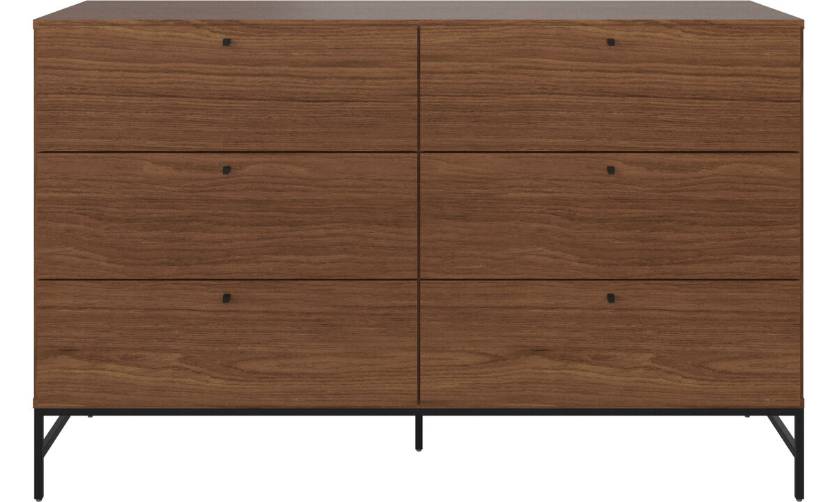 Chests of drawers - Bordeaux double dresser - Brown - Walnut