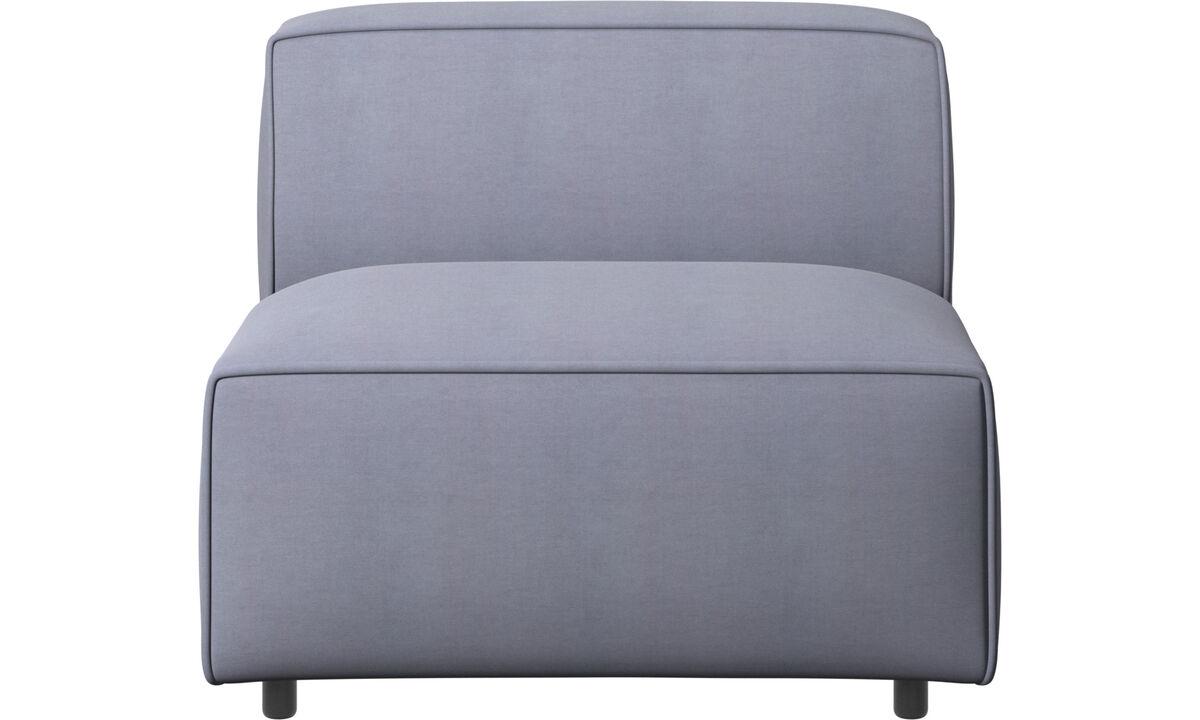 Sofás modulares - Silla/módulo básico Carmo - En azul - Tela
