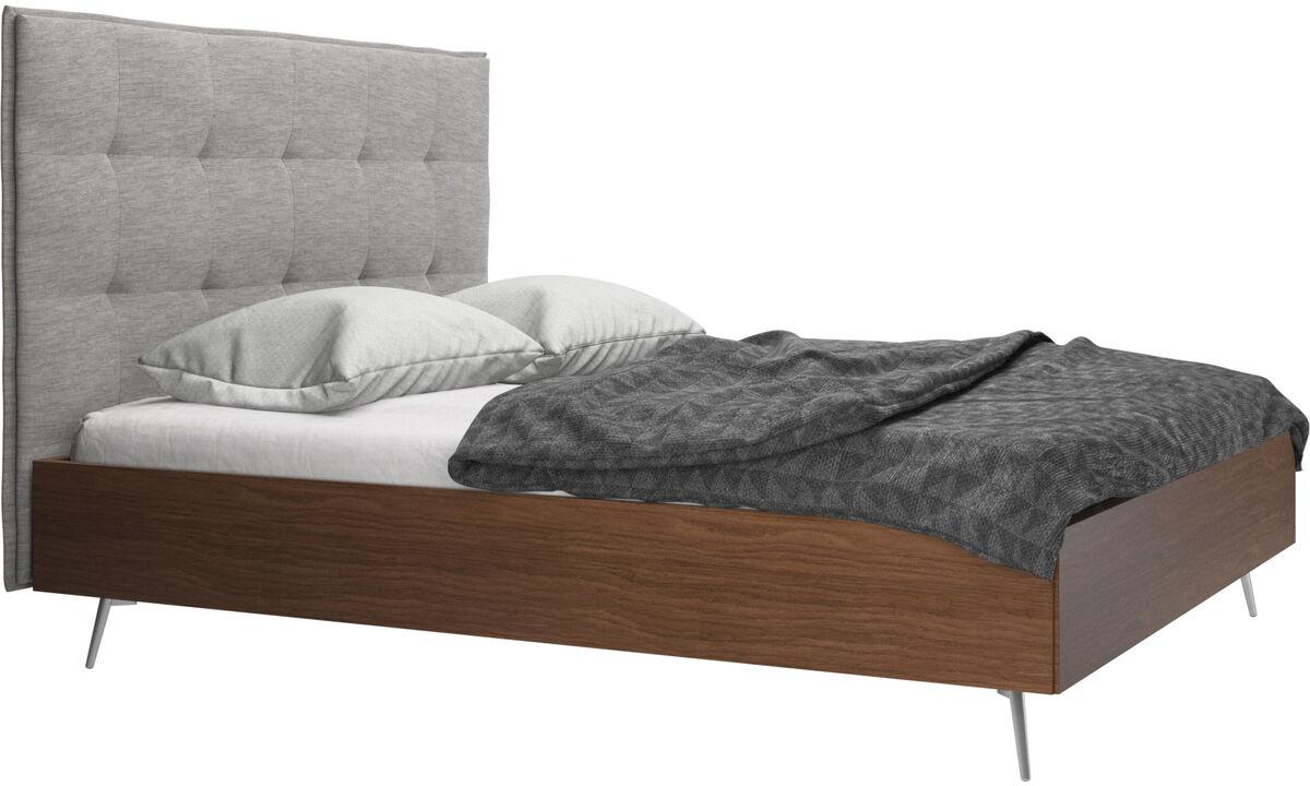Nowe łóżka - Łóżko Lugano, cena bez materaca - Szary - Tkanina