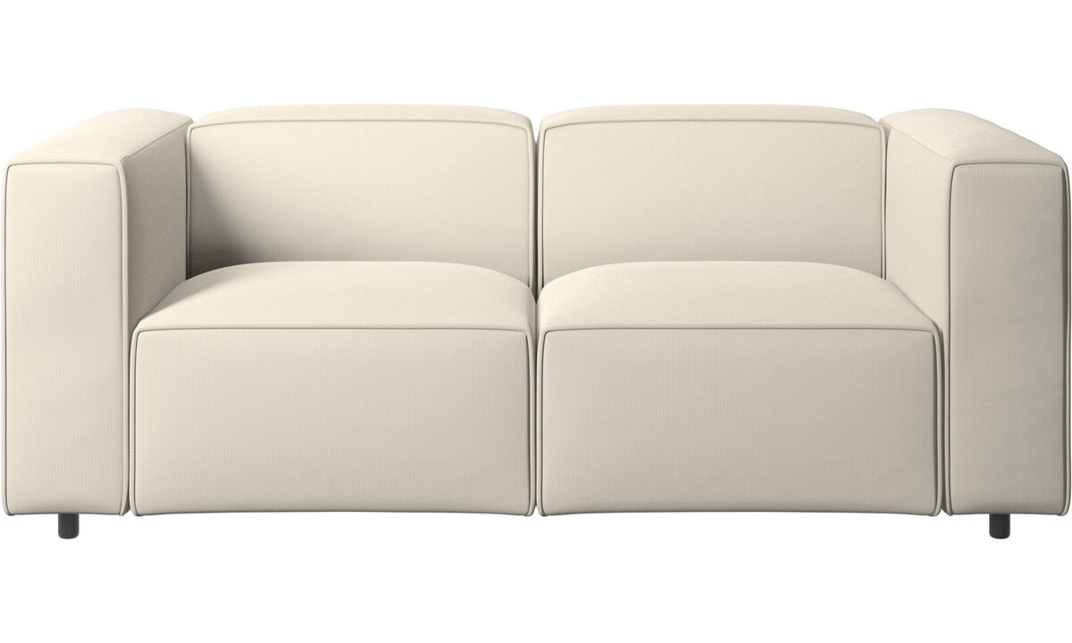 2 seater sofas - Carmo sofa - White - Fabric