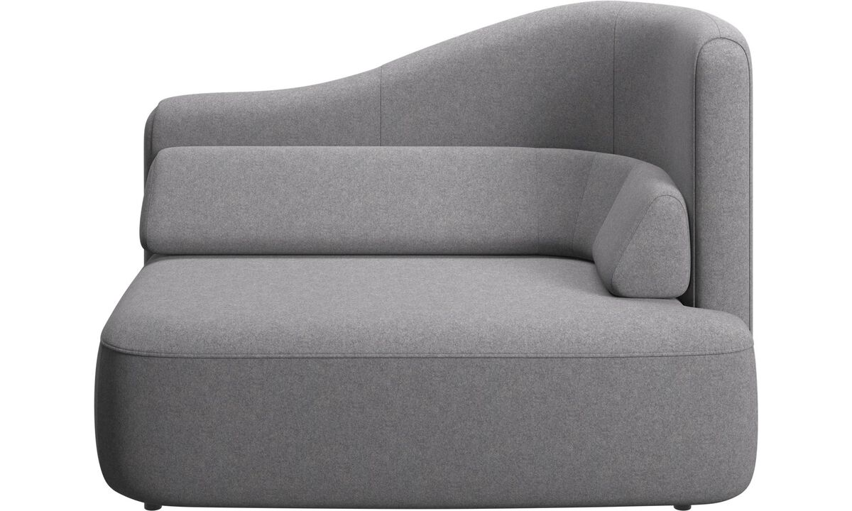 Modular sofas - Ottawa 1,5 seater right arm - Grey - Fabric