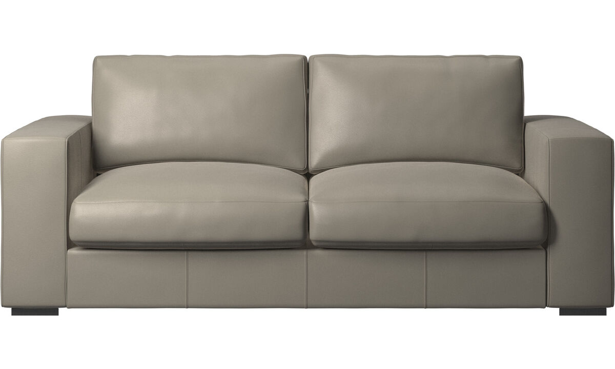 2.5 seater sofas - Cenova sofa - Grey - Leather