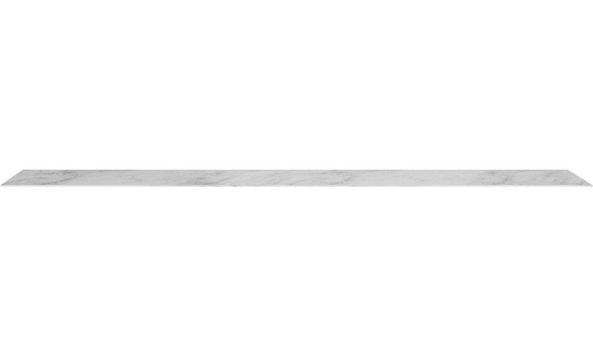 Möbelzubehör - Lugano Deckplatte - Weiß - Keramik