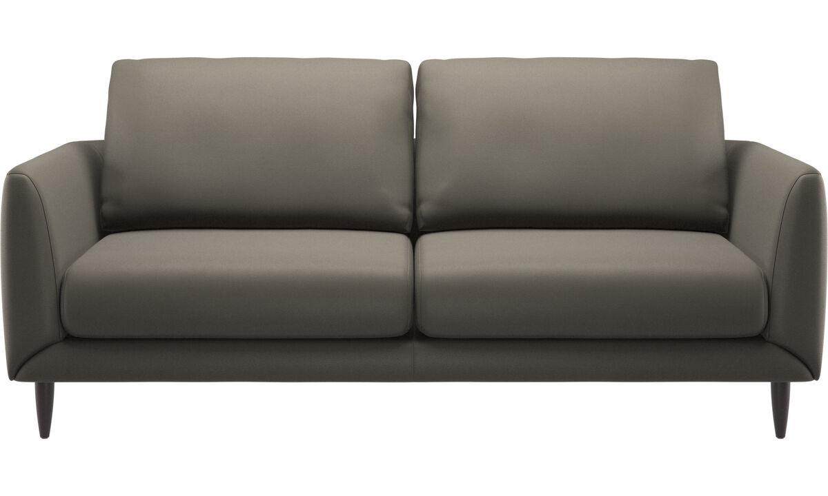 2.5 seater sofas - Fargo divano - Grigio - Pelle